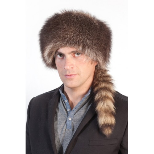 Coonskin Hat: Davy Crockett Fur Hat